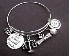 Law Graduation Bracelet, Law School Graduation, Law School Graduate Gift Bangle