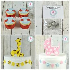Fancy Cakes SMALL Bunting Cutter set of 4 FREE 1st Class Dispatch Cake Clay Fimo