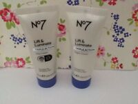 Boots No 7 Lift & Luminate Triple Action Day Cream & Night Cream New  25ml Each.