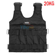 20/50KG WEIGHTED WEIGHT VEST ADJUSTABLE CROSSFIT MMA STRENGTH TRAINING RUNNING