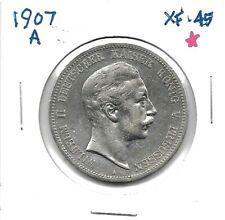 1907 German States PRUSSIA 5 Mark  .900 Silver Coin KM# 523 RARE