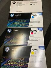 HP Q6470A Q6471A Q6472A Q6472A Black & 502A Cyan Magenta Yellow Toner Set
