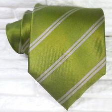 Cravatta regimental verde & grigio  JACQUARD  larga seta Made in Italy  RP € 39