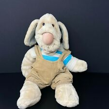 "Wrinkles Dog Ganz Bros Puppet 18"" Plush Puppy Leather Tag Corduroy Overalls 1981"