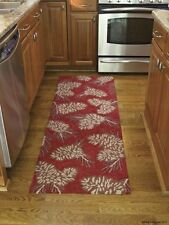 "Pinecone Hooked Rug Runner by Park Designs - 24"" x 72"" - Rustic Red"