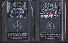 2 DECKS Bicycle Prestige plastic playing cards