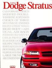 1996 Dodge Stratus Original 9x12 inch 28-page Sales Brochure Catalog