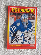 Toronto Maple Leafs Jussi Rynnas Signed 12/13 Score Hot Rookie Card #/399 Auto