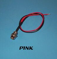 LED - 5mm PRE WIRED 12 VOLT WITH CHROME BEZEL - PINK