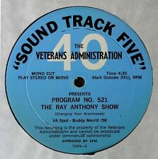 RAY ANTHONY SHOW / JOANNIE & JOHNNY MOSBY SHOW - PROMO LP
