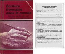 ECOLE FRANCAISE DANS LE MONDE  TRIBUNE DES FRANCOPHONES VOLUME 4 N° 2  ET 3 1982