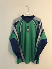 Vtg 2001 Adidas Columbus Crew Green Goalie Soccer Jersey Sz Large #1 Long Sleeve