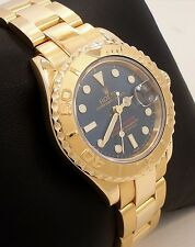 Rolex Yacht-Master 169628 Oyster Perpetual 18K Yellow Gold Ladies Watch *MINT*