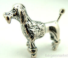 Miniature Sterling Silver French Poodle Dog Dollhouse Figurine 205