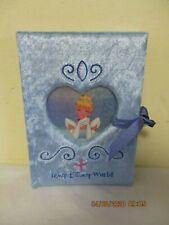 Disney Cinderella Blue Velvet Cloth & Beaded Cover Notebook Journal Book Unused