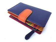 RFID SAFE Prime Hide London Collection Purple Multi Coloured Leather Purse 6080