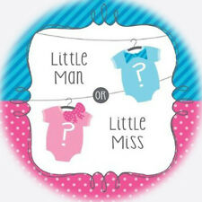 """Gender Reveal Baby Shower Edible Frosting 8""""Round Cake Topper"""