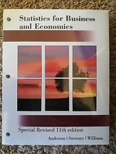 statistics for business and economics special revised 11th edition by Anderson