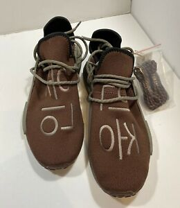 Adidas NMD Hu Pharrell Chocolate Brown GY0090 Human Race 10 US New With Box