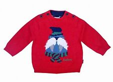 Ted Baker Baby Boy Jumper Sweater Cute Walrus Red Designer 3-6 Months