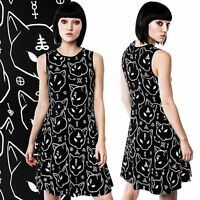 KillStar Azrael Skater Dress Black Cat Cats Gothic Symbol Dark  SIZE LARGE XL