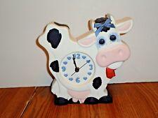 Farm COW Kitchen Clock CERAMIC 3D MANTEL CLOCK