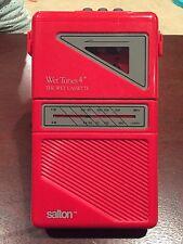 Salton Wet Tunes 4 Shower Radio 1987 Cassette Vintage 80's Movie Prop Rare Red