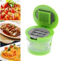Portable Mini Garlic Grater Chopper Slicer Onion Hand Press Grinder Crusher