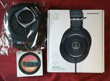 Audio-Technica ATH-M30X Pro Studio Black Headphones & Fiio A3 Amp Bundle Black
