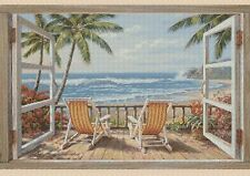 Beach Sea View Counted Cross Stitch Complete Kit  #9-409/1