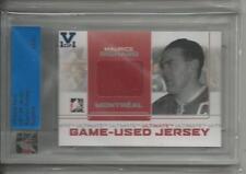 Maurice Richard ITG Ultimate Vault 1/1 on UM8 Game-Used Jersey. Sapphire Logo.