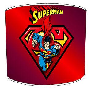 Lampshades Ideal To Match Superman Superhero Wallpaper Duvets Bedding Wall Art