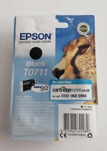 GENUINE EPSON T0711 TO711 Black Cartridge Vacuum Sealed ORIGINAL OEM CHEETAH ink