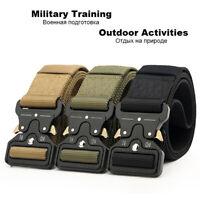 Quick Release Work Belt Tactical Black Mens Army Nylon Metal Buckle Waistbelt