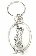 Shooting Man / Hunting Handcrafted from Solid English Pewter In the UK Key Ring