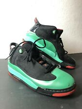 Nike Air Jordan Dub Zero GG Basketball Black Green 725742-035 Size 8.5Y