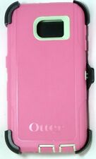 Authentic OtterBox Samsung Galaxy S6 DEFENDER Case/Holster, Melon Pop|Green/Pink