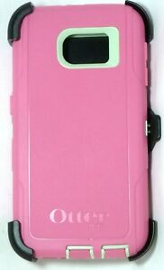 Authentic OtterBox Samsung Galaxy S6 DEFENDER Case/Holster, Melon Pop Green/Pink