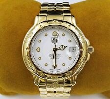 TAG HEUER Chronometer 18k Yellow Gold Solid Automatic Watch White Dial WH514