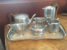 Picquot Ware tea/Coffee Set and Tray Vintage