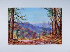 1960's Fall on Freeman Ridge Road BROWN COUNTY Indiana ART PRINT Harold Hancock