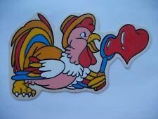 bunte Henne - Fensterbild aus Haftfolie - mehrfach verwendbar Osterdekoration
