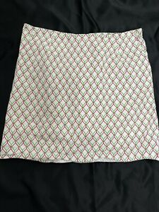 Pin Clover Skirt Skort Pink White Greenl Size M Stretch Pockets