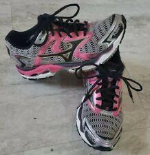 Women's Mizuno Wave Nirvana 8 Running Shoes Sneakers Size W7.5 Gray Pink