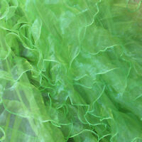 "Lime Ruffles Organza Fabric 56"" / 58"" Width By The Yard Bridal Gown"