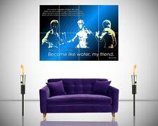 Cotización de Bruce Lee se como el agua Póster motivacional inspiradoras gigante Art Print