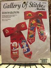Gallery of Stitches~Bucilla Christmas Toys & Mr. & Mrs Claus Felt Applique Bows