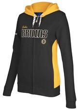 Boston Bruins Women's Reebok NHL Core Full Zip Hooded Sweatshirt