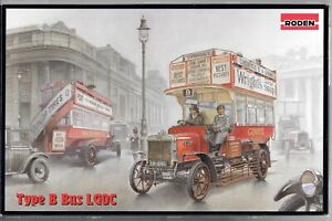 RODEN WWI BRITISH BUS, TYPE B BUS LGOC IN 1/72  739  ST