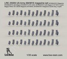 Live Resin 35009 1/35 US Army M4/M16 Magazine Set